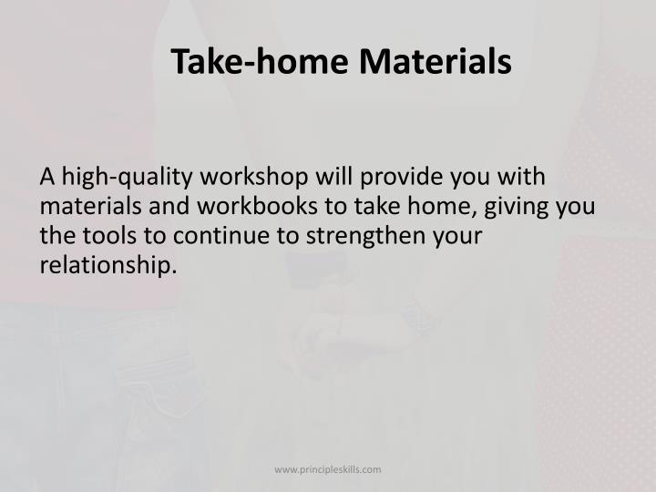 Take-home Materials