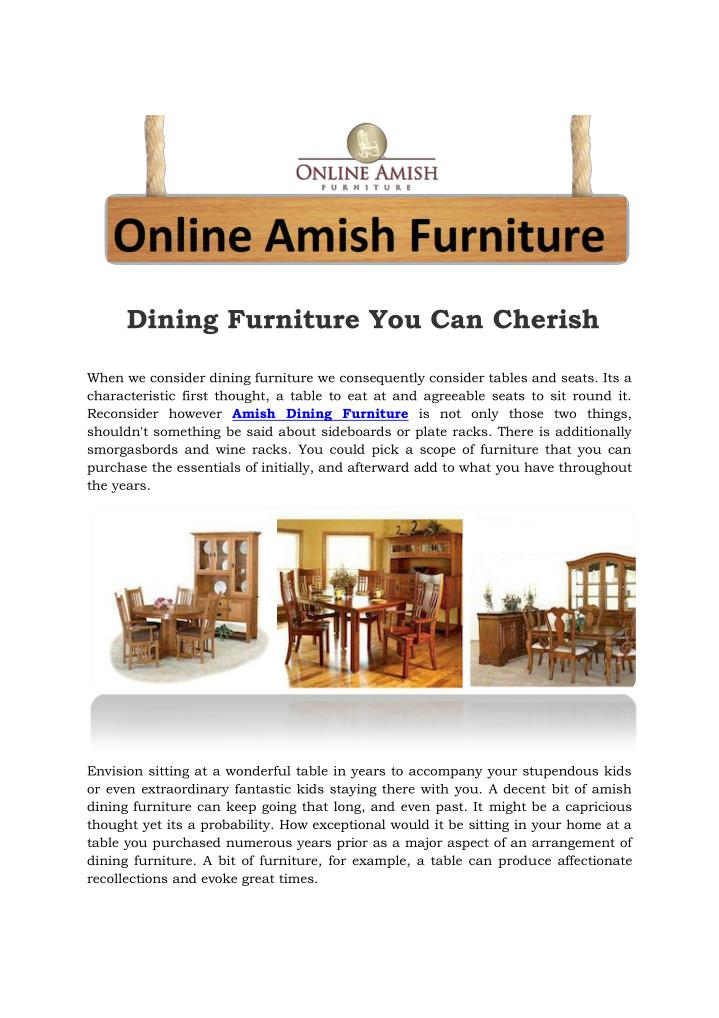 Dining Furniture You Can Cherish