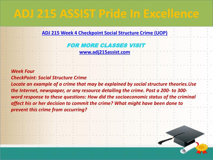 ADJ 215 ASSIST Pride In Excellence