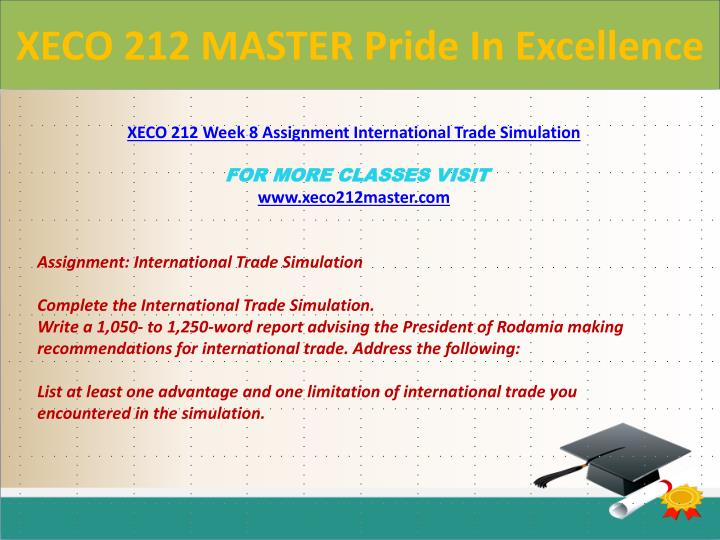 XECO 212 MASTER Pride In Excellence