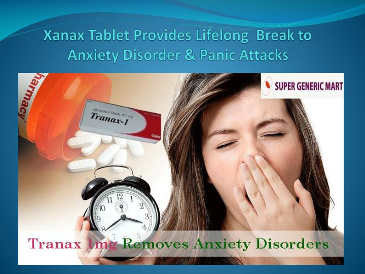 xanax doesnt help anxiety