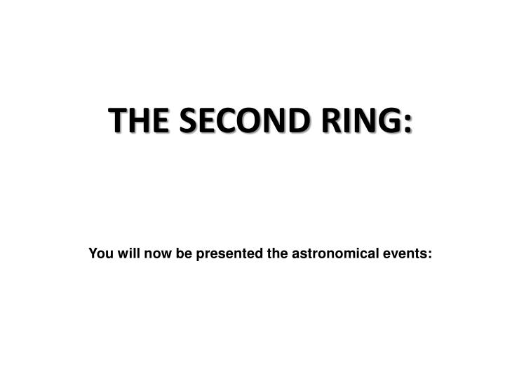 You will now be presented the astronomical events: