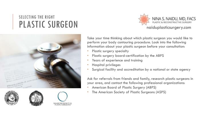 Selecting the right plastic surgeon