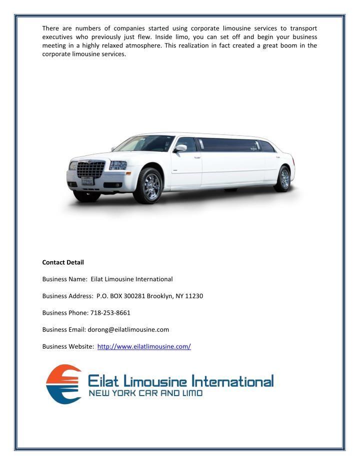 There are numbers of companies started using corporate limousine services to transport