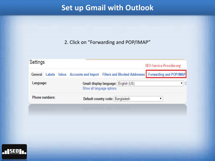 how to set up your gmail accunt in outlook