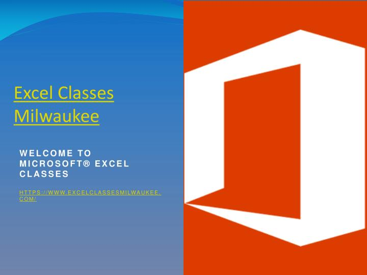 Excel classes milwaukee