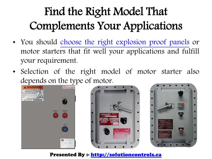 Ppt important factors when purchasing an explosion proof for Explosion proof motor starter