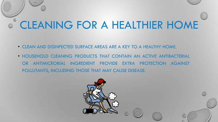 Cleaning for a Healthier Home