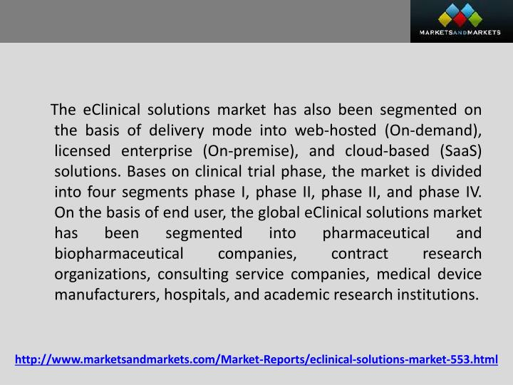 eClinical Solutions Market Worth $10 Billion by 2025 | CAGR: 16%: Grand View Research, Inc.