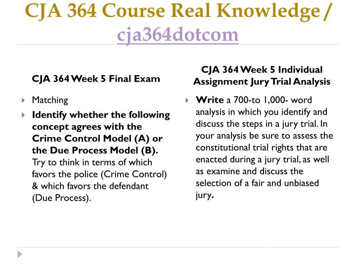 jury trial analysis