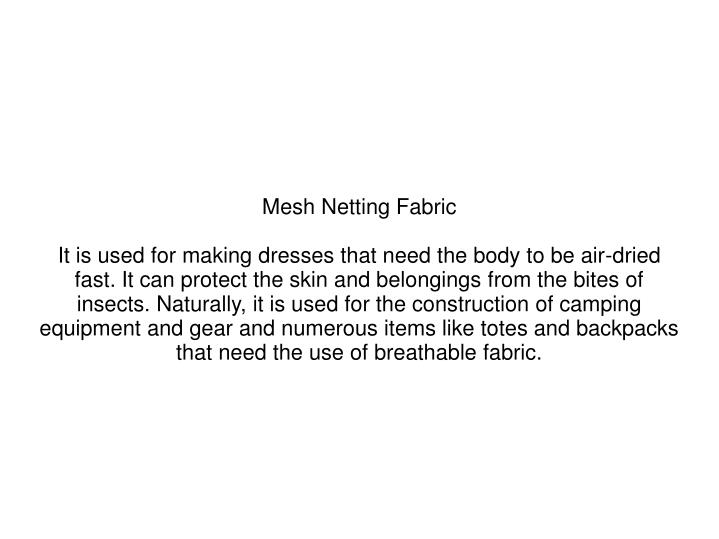 Mesh Netting Fabric
