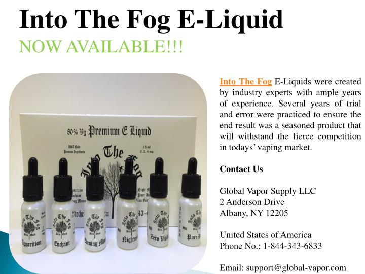 Into The Fog E-Liquid