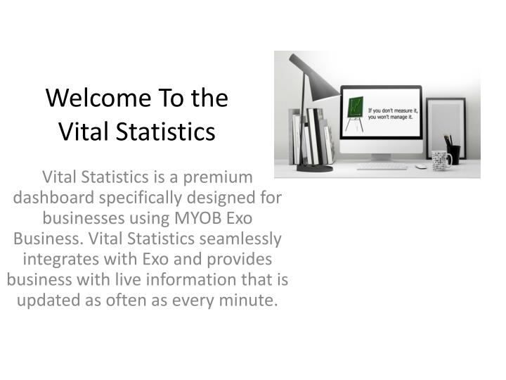 Welcome to the vital statistics