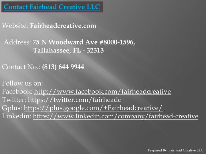 Contact Fairhead Creative LLC