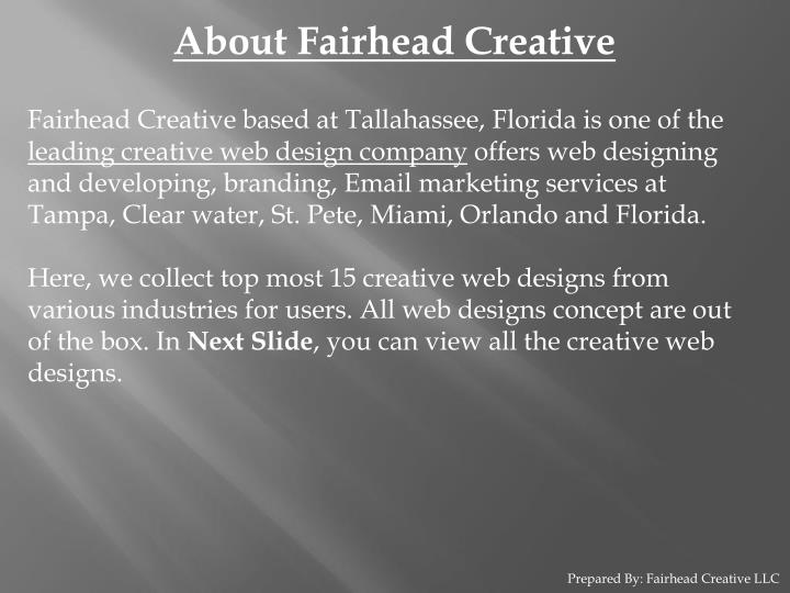 About Fairhead Creative