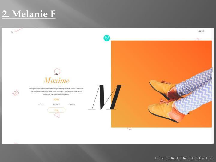 2. Melanie F