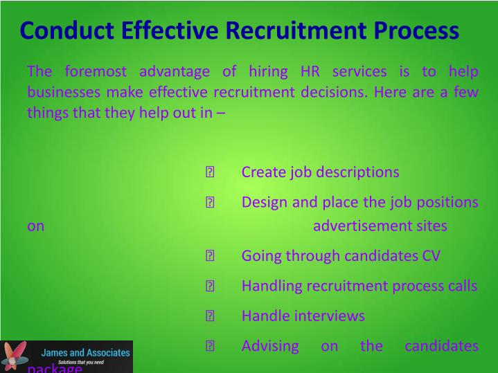 Conduct Effective Recruitment Process