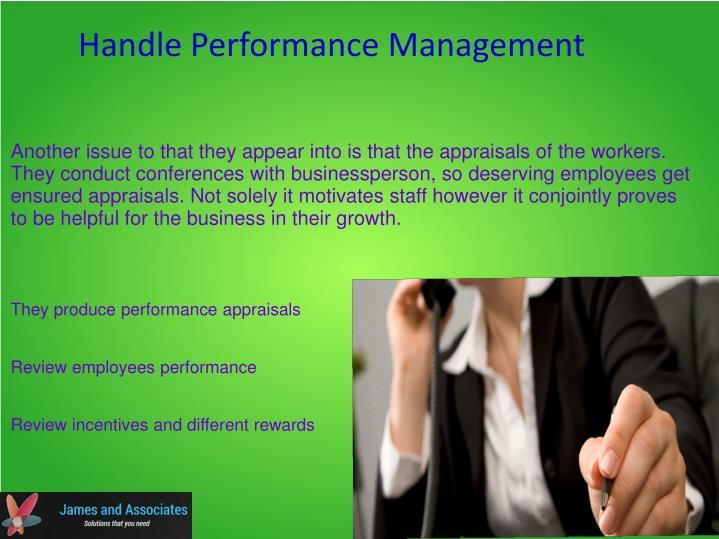 Handle Performance Management