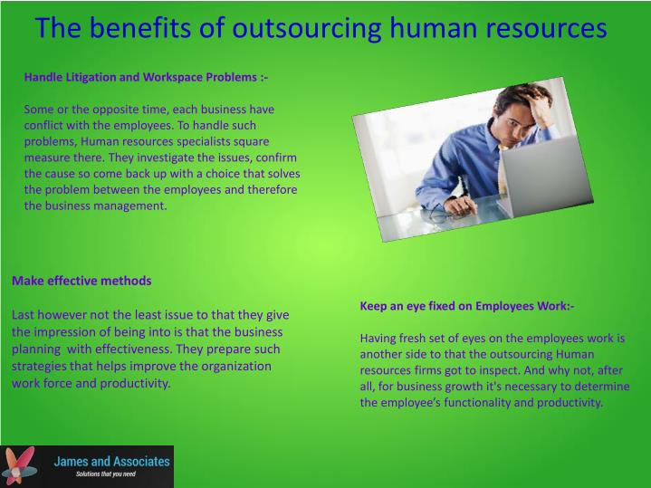 The benefits of outsourcing human resources