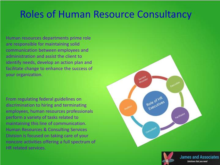 Roles of Human Resource Consultancy