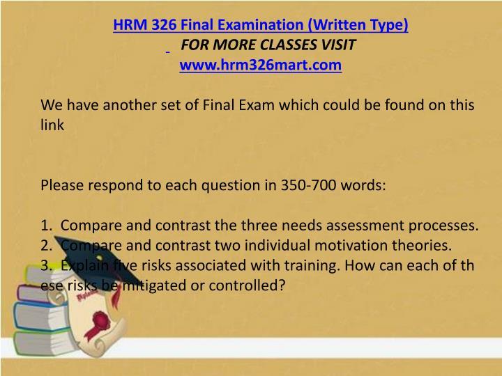 hrm 324 final exam