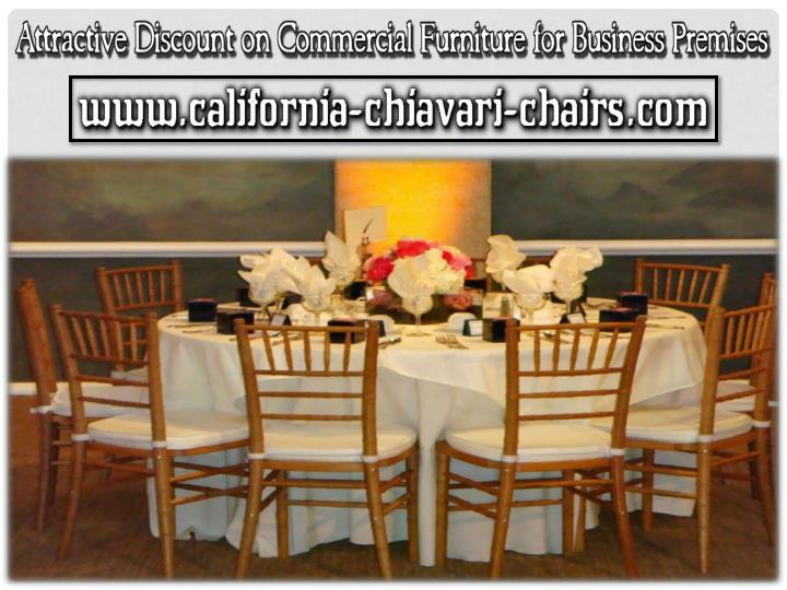 Attractive discount on commercial furniture for business premises