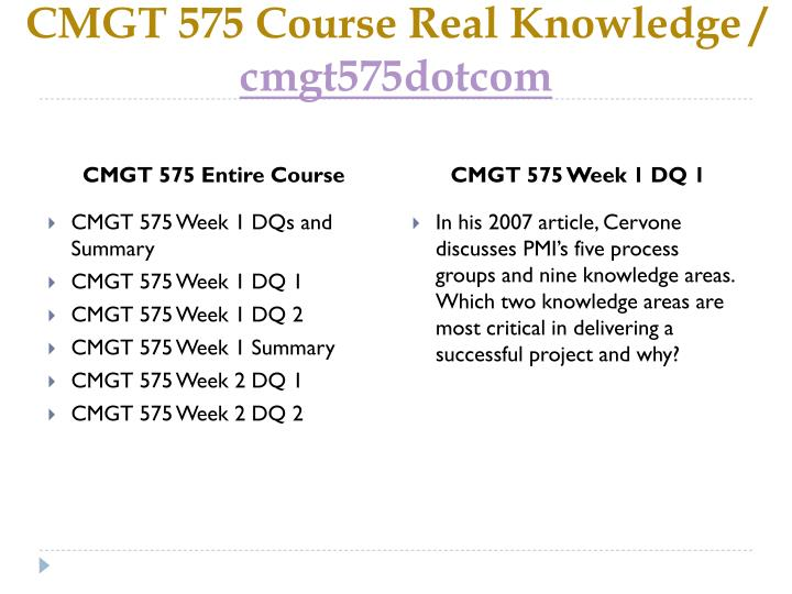 Cmgt 575 course real knowledge cmgt575dotcom1