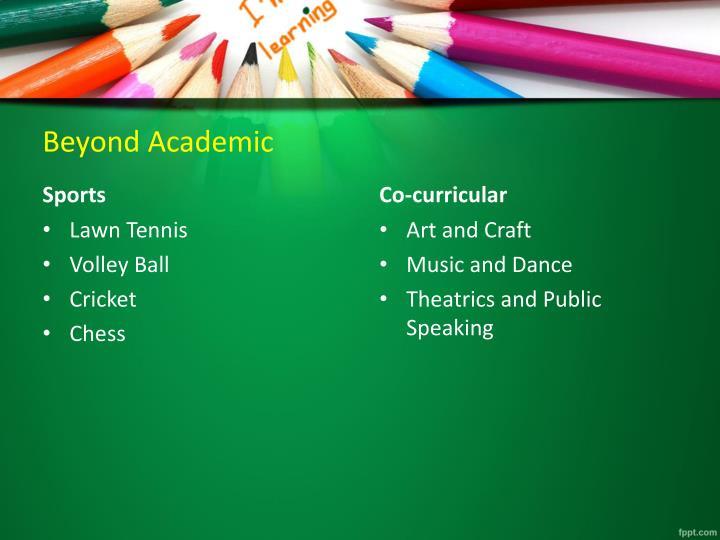 Beyond Academic