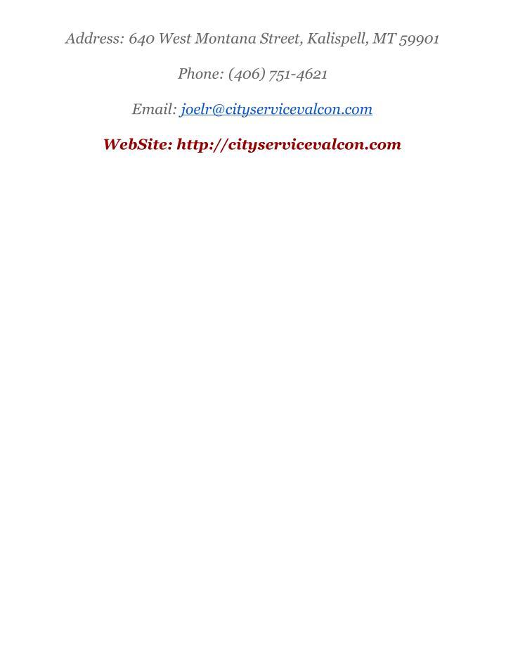 Address:640WestMontanaStreet,Kalispell,MT59901