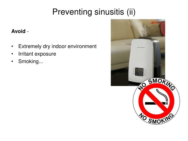 Preventing sinusitis (ii)