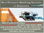 best pressure washing services in delaware