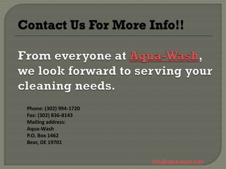 ContactUs For More Info!!