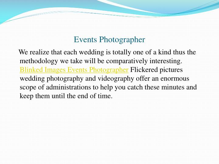 Events Photographer