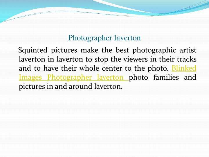Photographer laverton