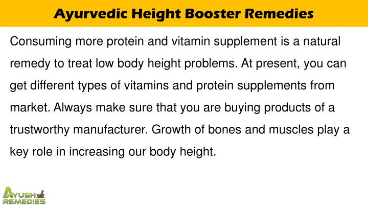 Ayurvedic Height Booster Remedies