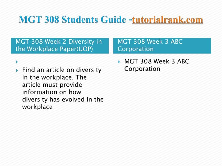 Mgt 308 students guide tutorialrank com2