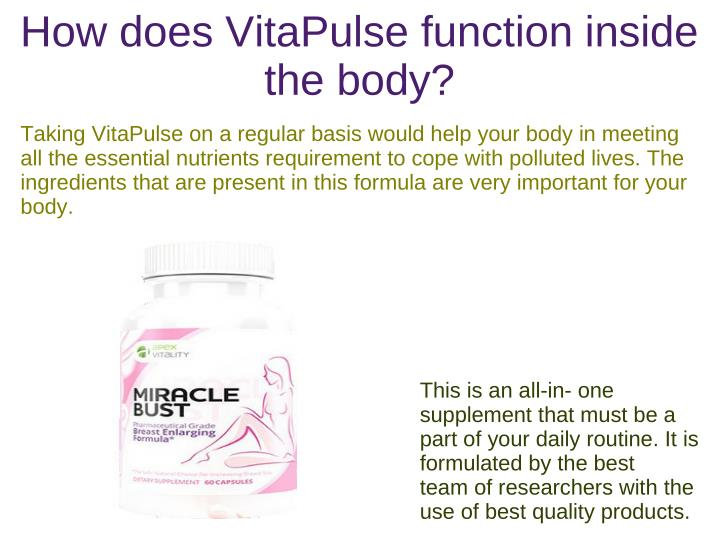 How does VitaPulse function inside
