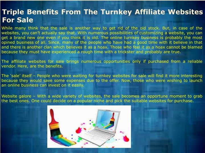 Triple Benefits From The Turnkey Affiliate Websites For Sale