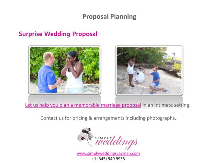 Proposal Planning