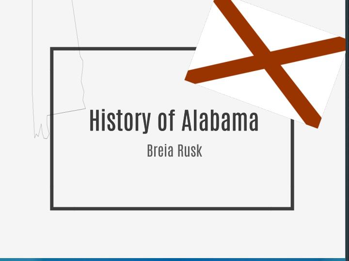 History of Alabama