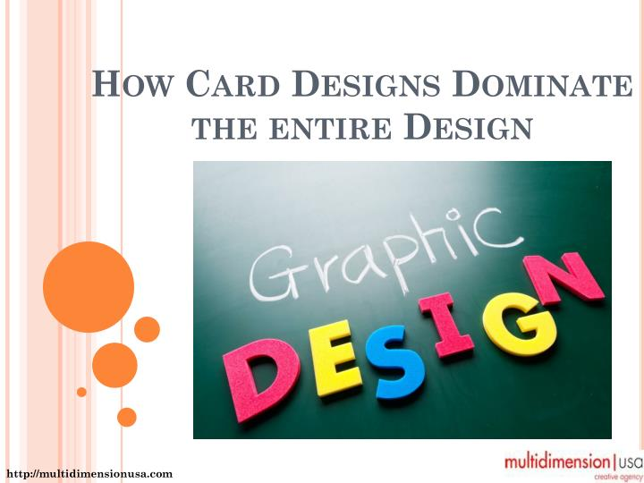 How card designs dominate the entire design