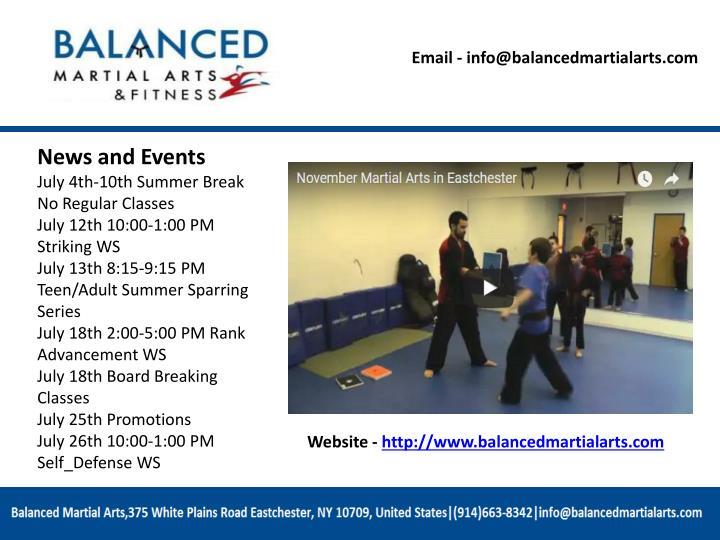 Email - info@balancedmartialarts.com