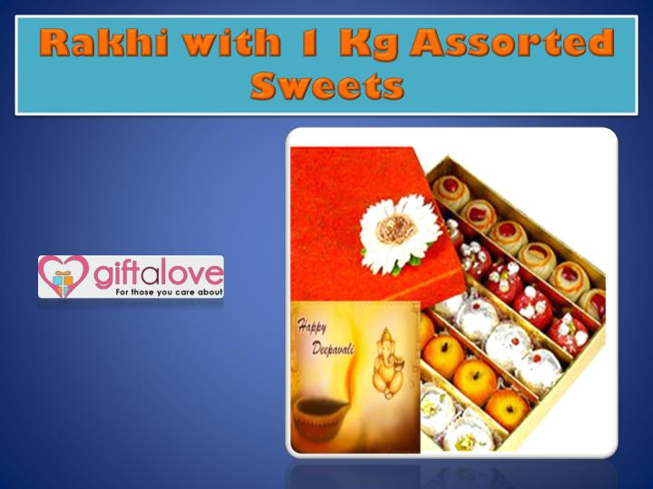 Rakhi with 1 Kg Assorted Sweets