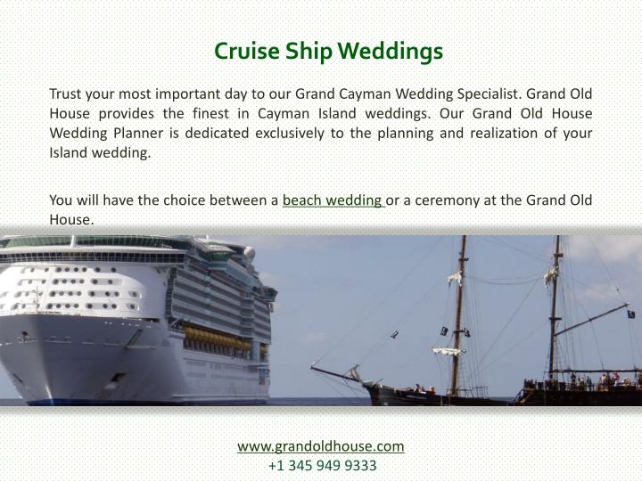 Cruise Ship Weddings