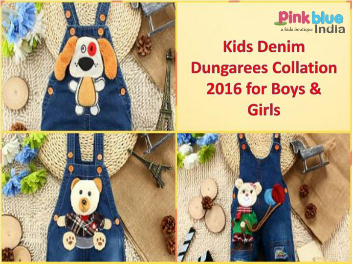 Kids denim dungarees collation 2016 for boys girls