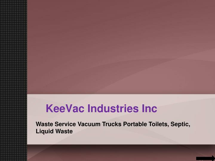 Keevac industries inc