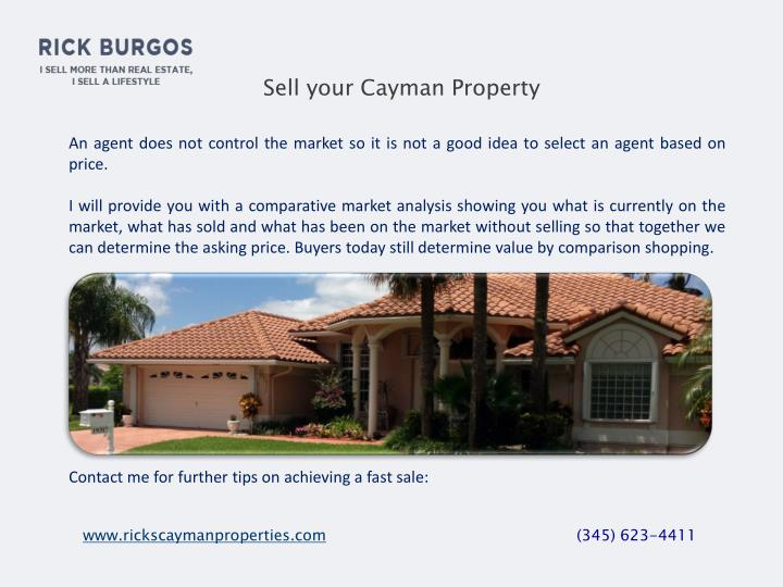 Sell your Cayman Property