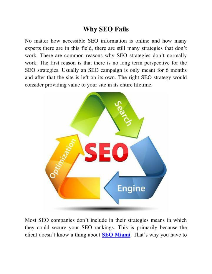 Why SEO Fails