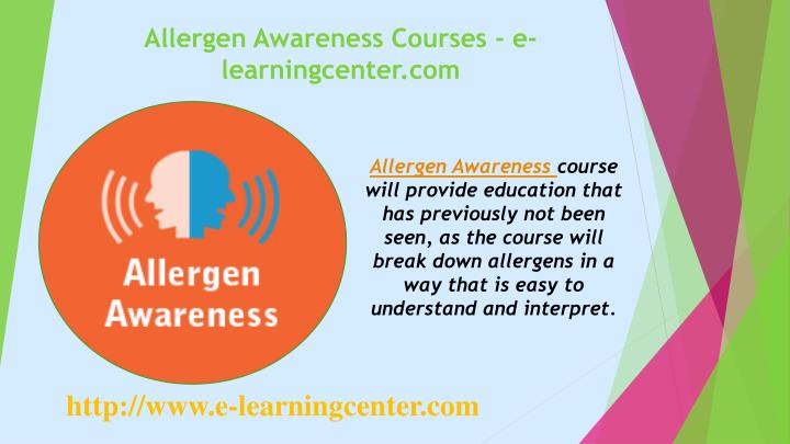 Allergen awareness courses e learningcenter com