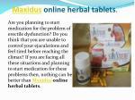 maxidus online herbal tablets